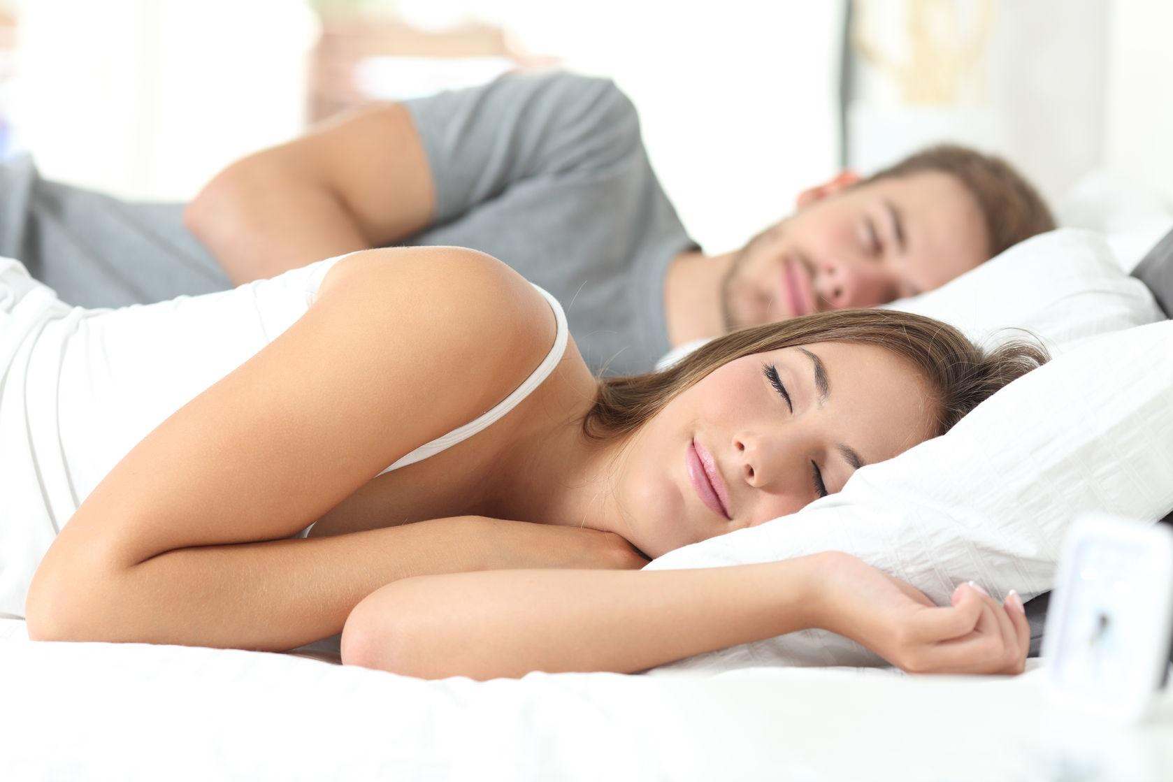 Happy Couple Sleeping by Antonio Guillem
