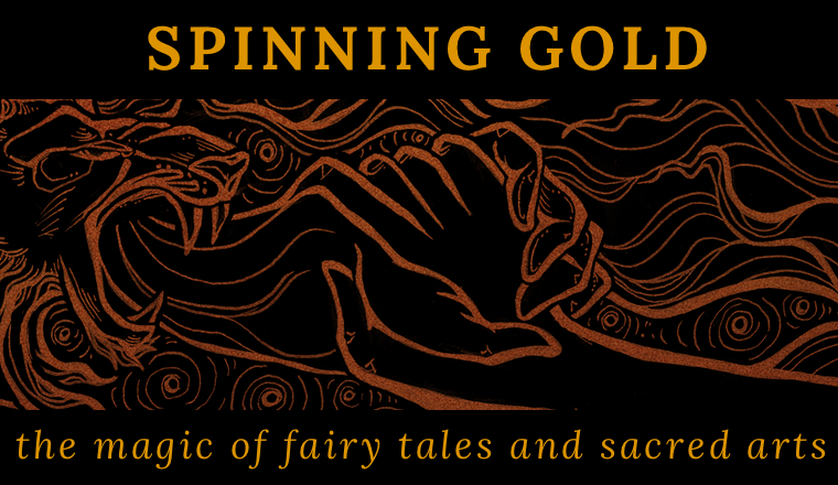 Spinning Gold Art by Cassandra Oswald