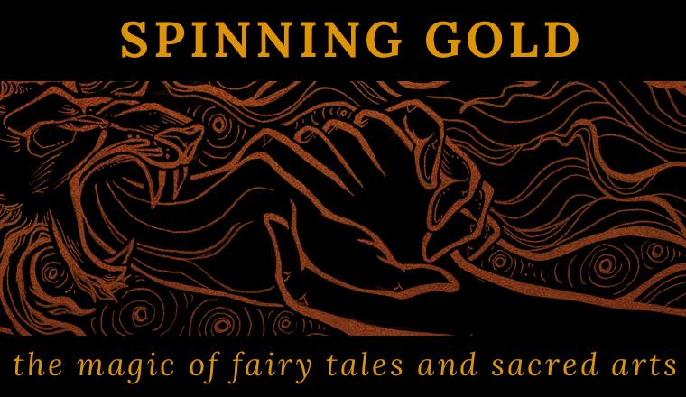 Spinning Gold Art by Cassandra Oswald