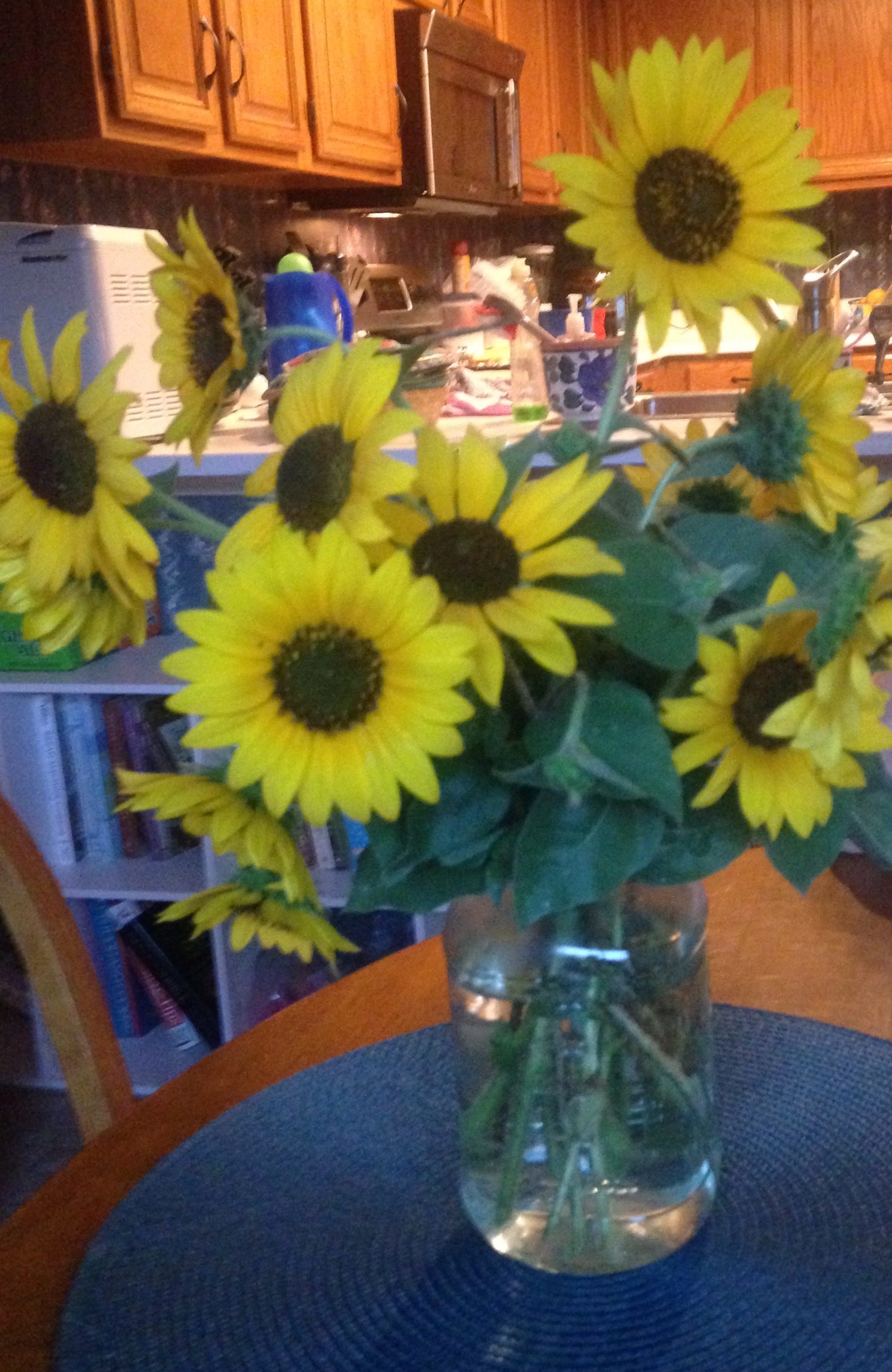 Sunflowers on Kitchen Table